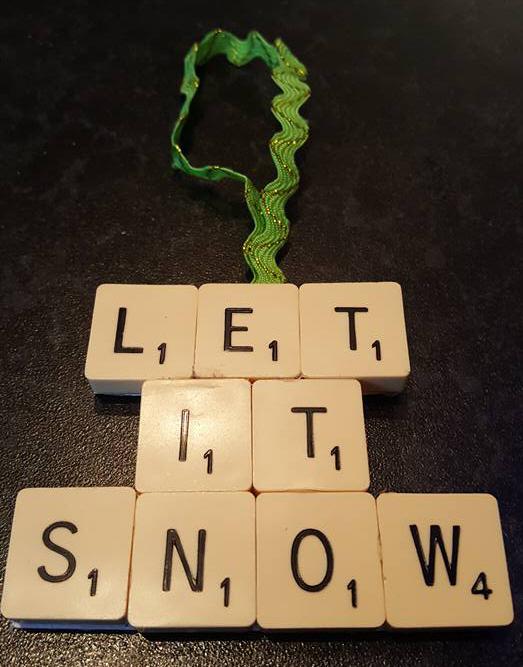 Let it snow Scrabble tree ornament