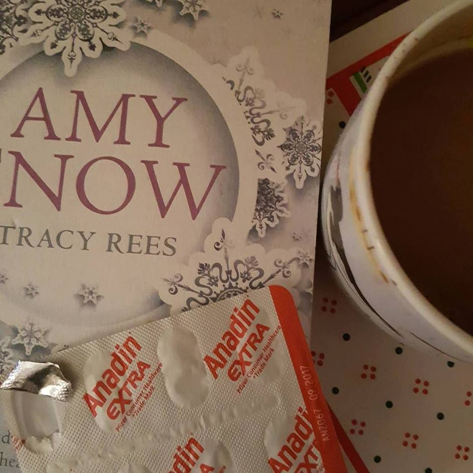 Sunday photo - hot chocolate, painkillers and reading