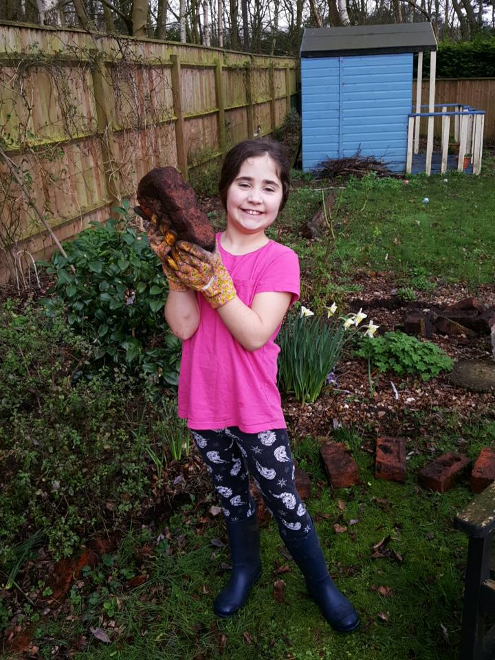 March 18th Project As & When Ella helping in Nanny's garden