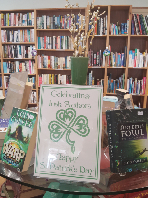 St Patrick's Day Book Display