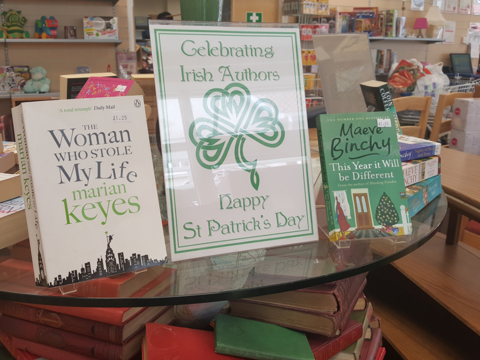 St Patrick's Day Book Display Irish authors
