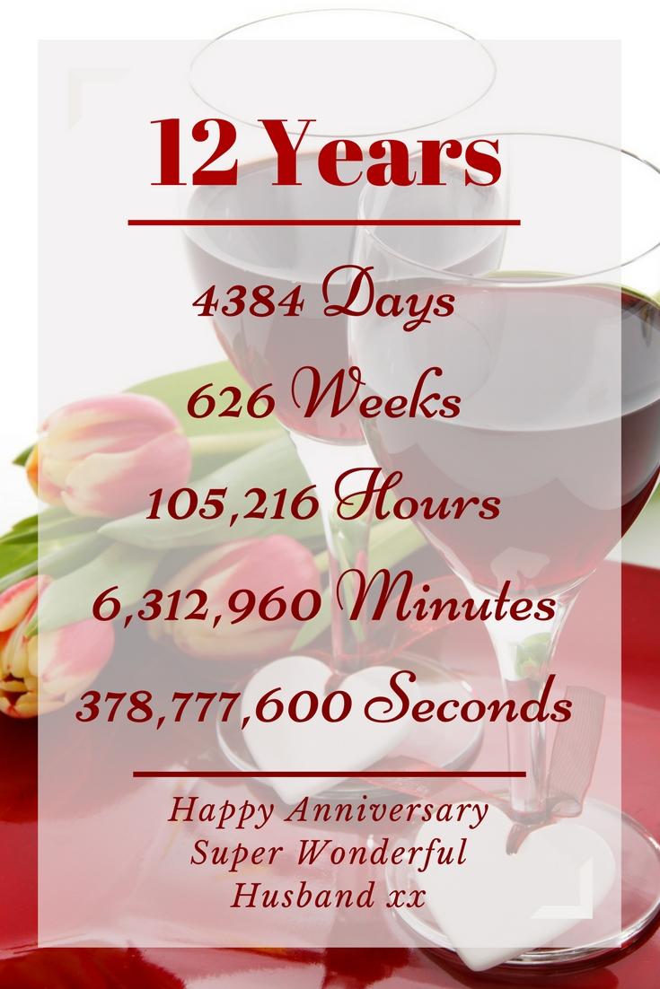 Happy 12th wedding anniversary super wonderful husband