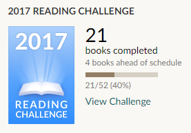 Goodreads 21 books completed