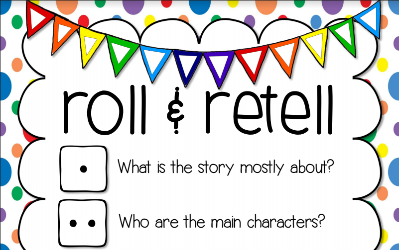 May Book Club Roll And Retell