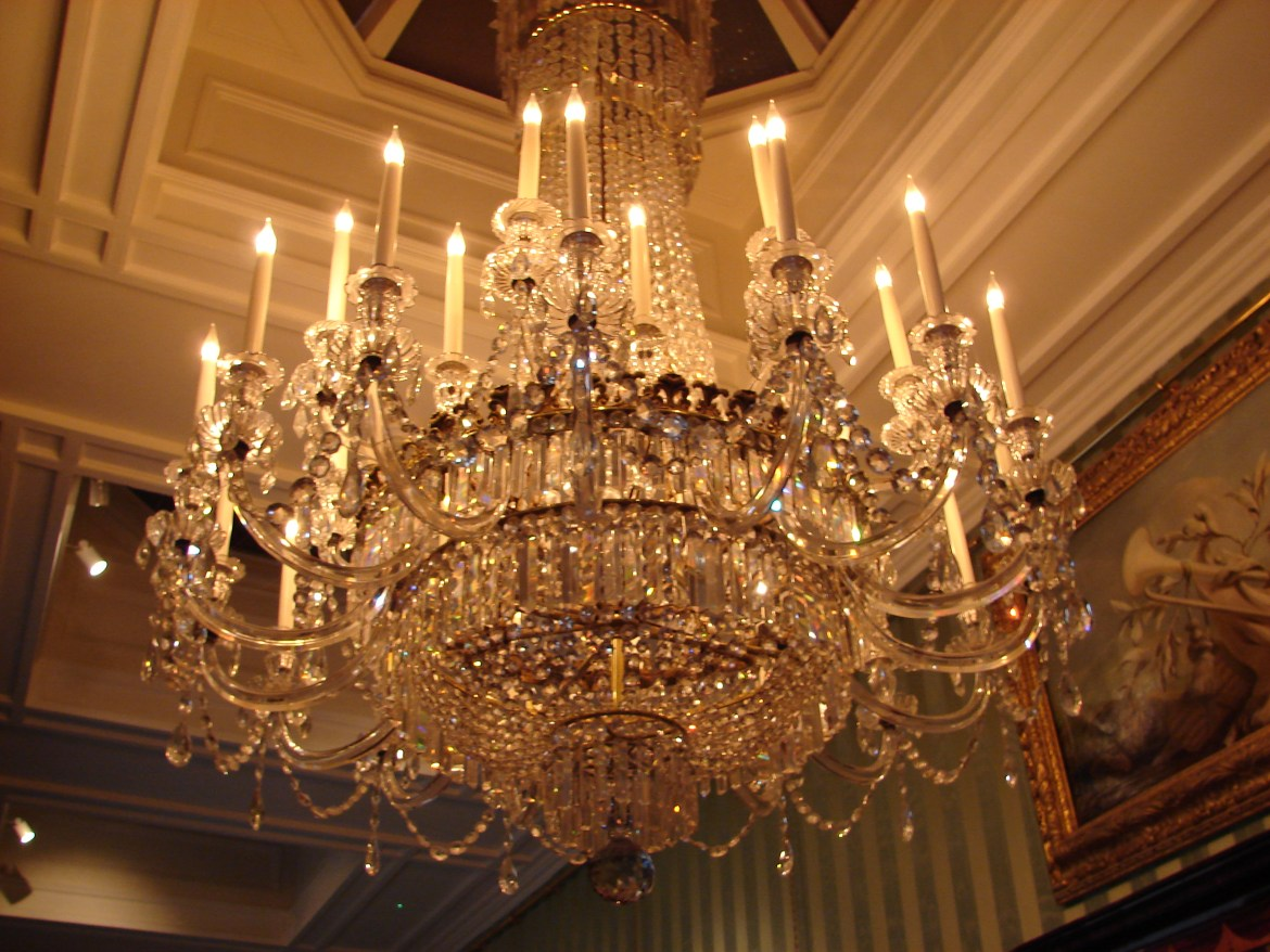 Chandelier At Chatsworth House - Touch Of Elegance