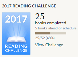 Goodreads challenge 25 books read