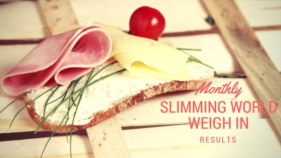 Slimming World Monthly Weigh In Results Update
