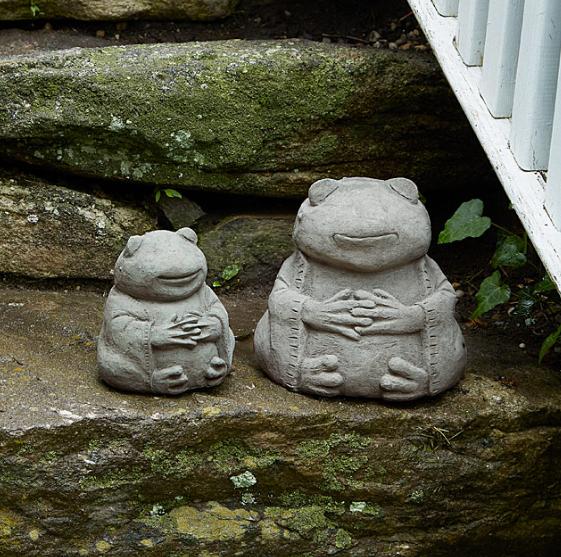 zen frogs garden ornaments