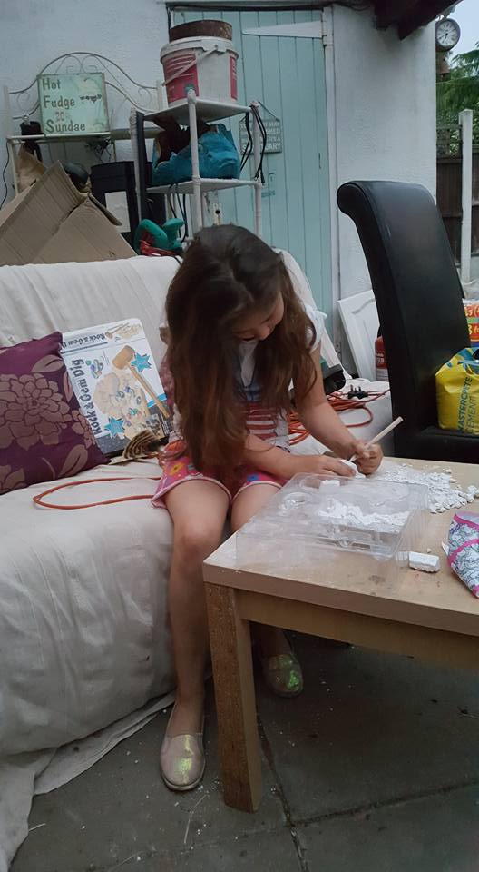 Ella searching for gems
