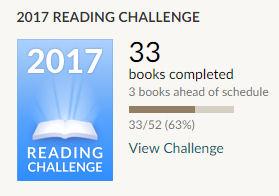33 books read Goodreads challenge