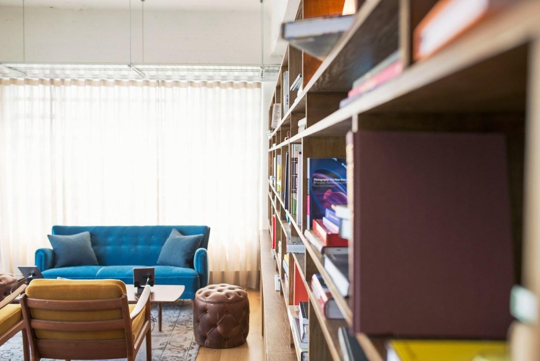 bookshelves in small living room