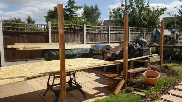 building work on the patio
