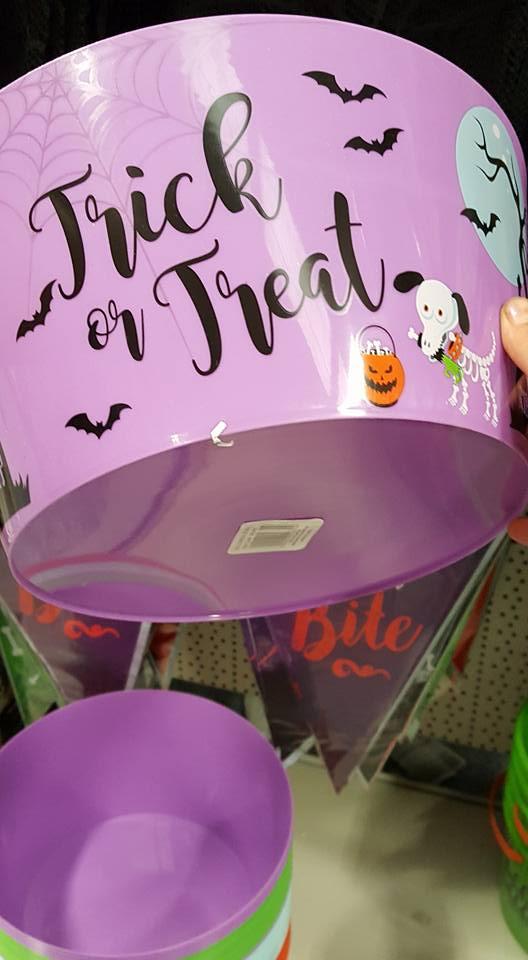 Trick or treat bucket - Halloween plans