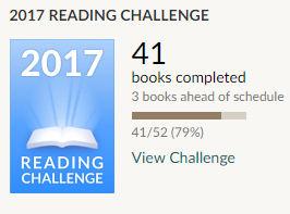 Goodreads challenge 2017 41 books read