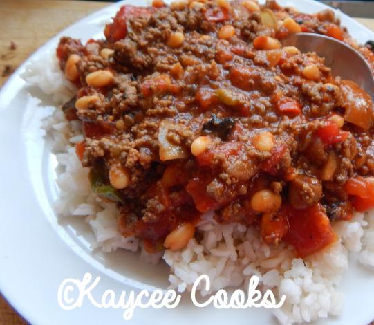 Chilli Con Carne and rice