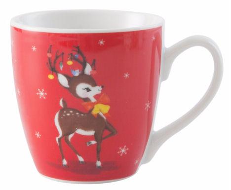 reindeer Christmas mug - Vintage Christmas