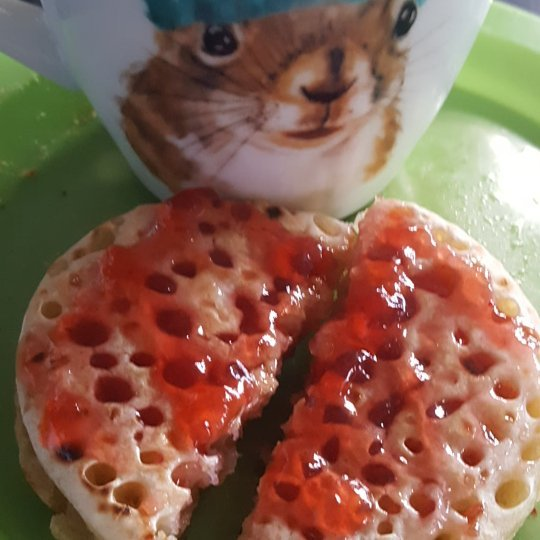 1 day 12 pics November #7 coffee and crumpet time