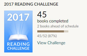 Goodreads reading challenge 45 books read