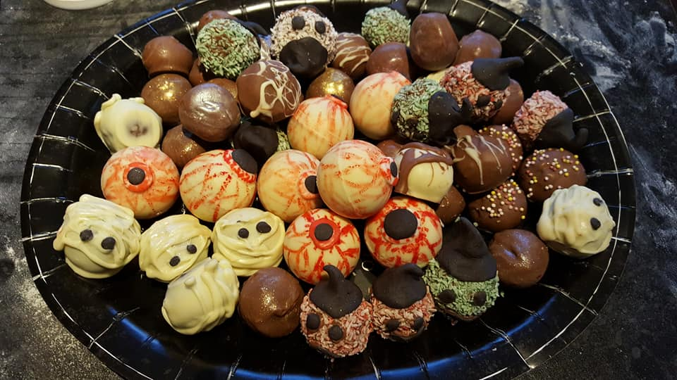 assorted Halloween truffles
