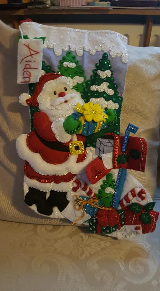 Aiden's new Christmas stocking