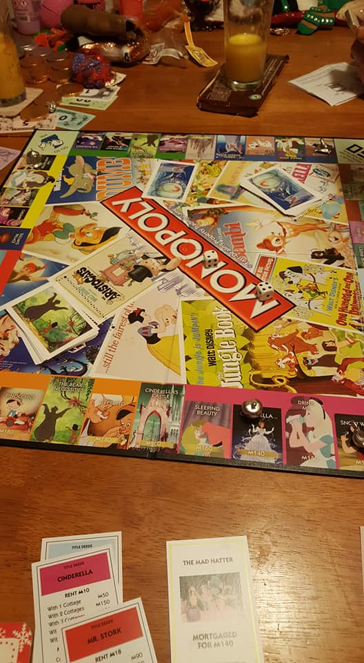 playing Disney Monopoly