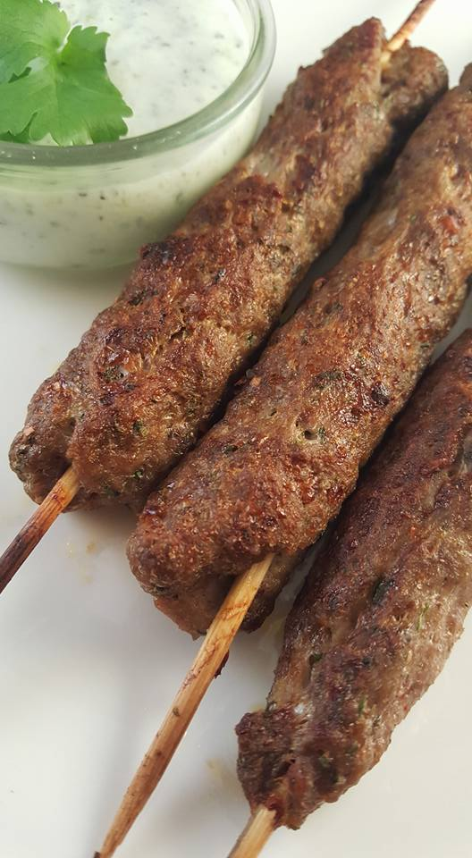 lamb koftas with mint yogurt dip