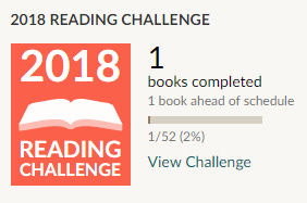 Goodreads reading challenge 2018 1 book read