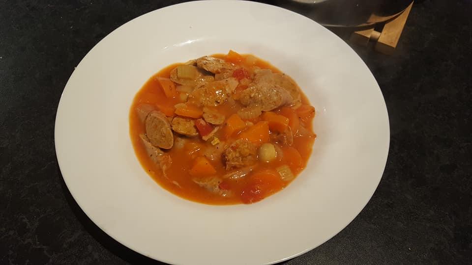 sausage casserole slimming world style