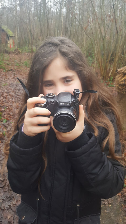 Ella taking photos