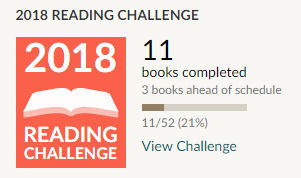 Goodreads reading challenge 2018 11 books read