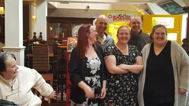 Jayne, James, John, Stacy and me