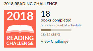 Goodreads 2018 reading challenge 18 books read
