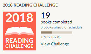 Goodreads 2018 reading challenge 19 books read