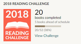 Goodreads 2018 reading challenge 20 books read