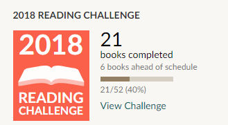 Goodreads 2018 reading challenge 21 books read