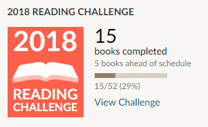 Goodreads 2018 reading challenge - 15 books read