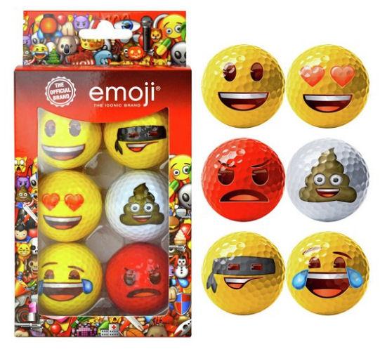 Emoji golf balls Argos