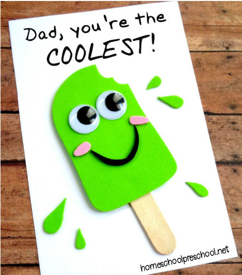 homemade Father's Day gifts - Dad, You're the Coolest card