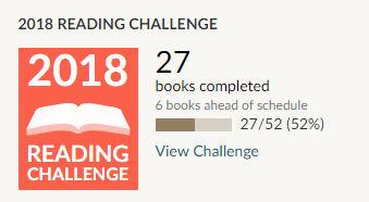 Goodreads 2018 reading challenge 27 books read