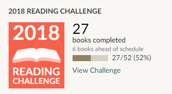 Goodreads 2018 reading challenge 27 books read