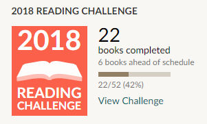 Goodreads 2018 reading challenge 22 books read