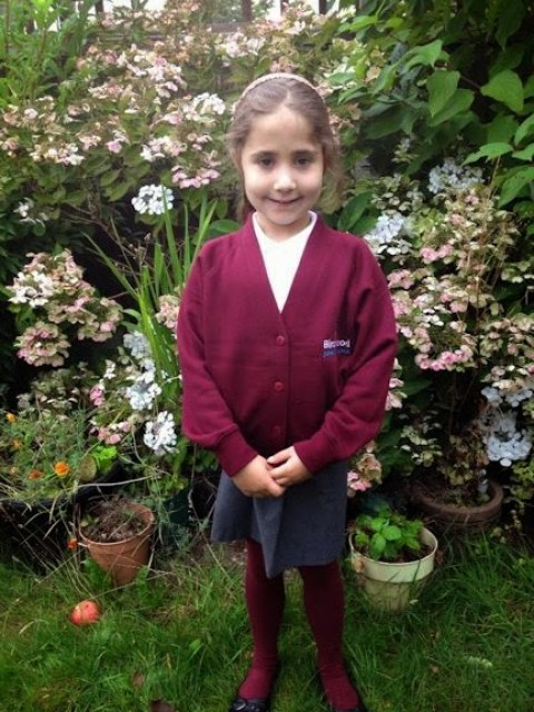 Ella's first day back to school photos - 2014