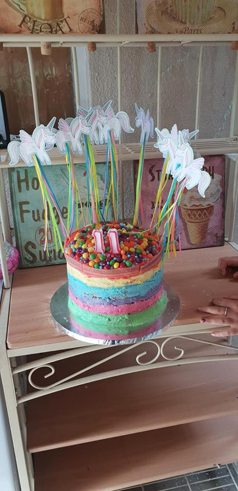 Ella's birthday cake made by KayCee