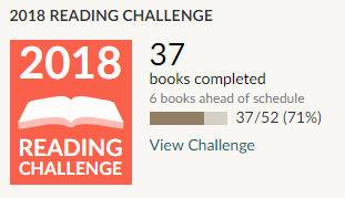 Goodreads 2018 reading challenge 37 books read