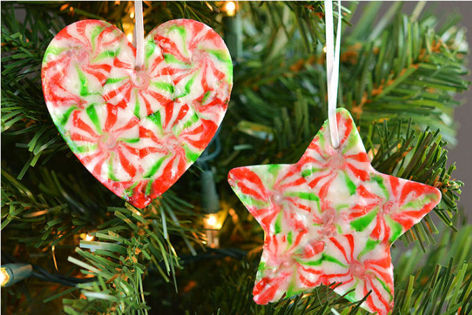 Peppermint candy Christmas ornaments - craft ideas