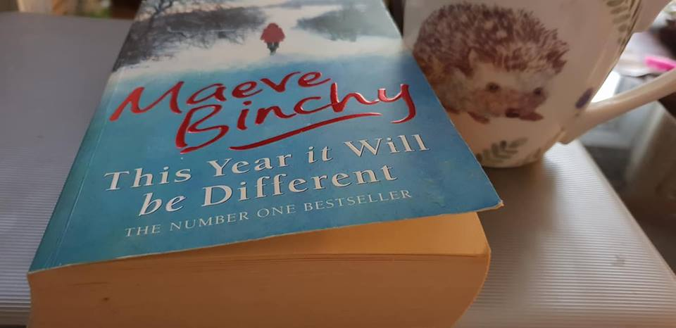 October 1 day 12 pics number  1 - Maeve Binchy book and coffee mug