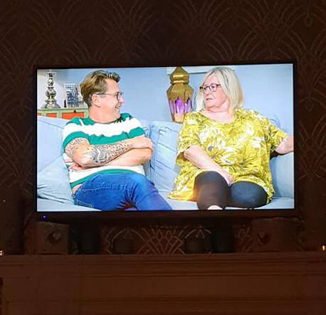 October 1 day 12 pics number 11 - watching Gogglebox