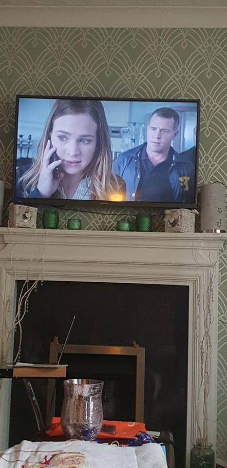 October 1 day 12 pics number 6 - watching For The People on TV