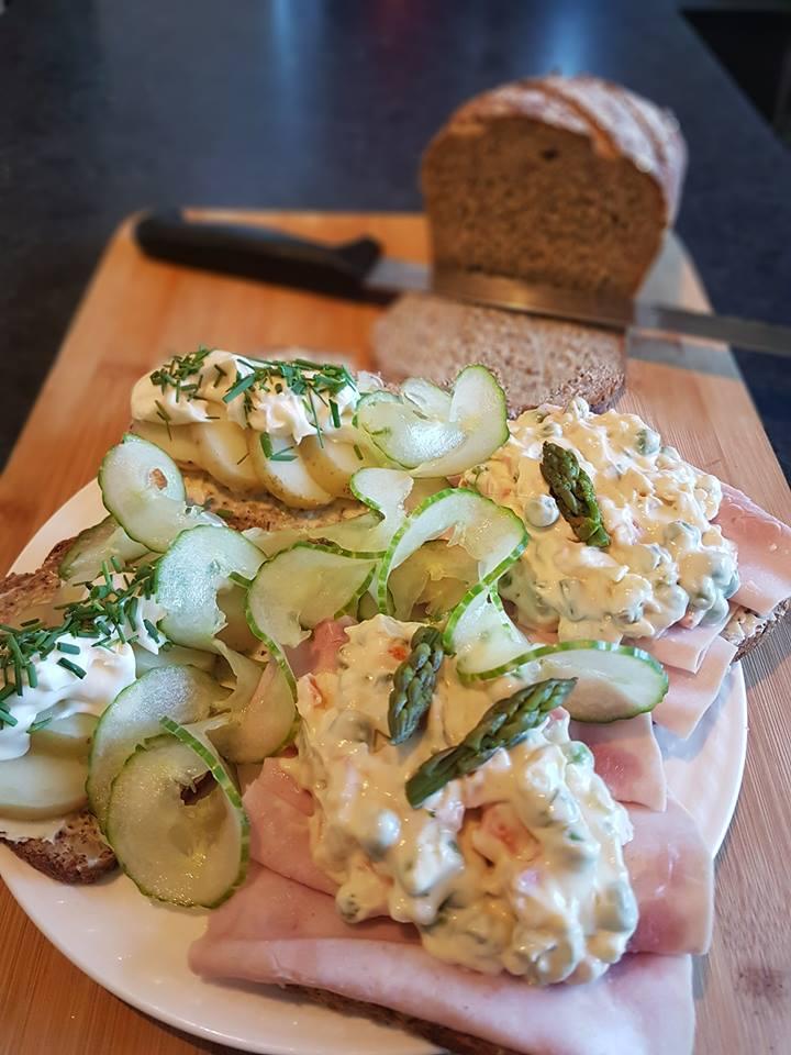 Danish rye bread open sandwiches