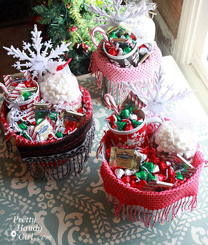 Cosy gift baskets from Pretty Handy Girl .com